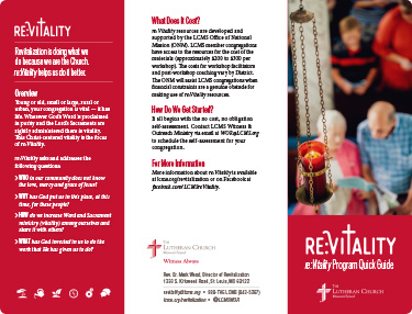 Re:Vitality Brochure