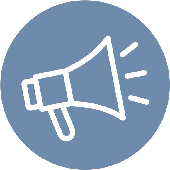 Megaphone icon - Awareness resources Advocacy