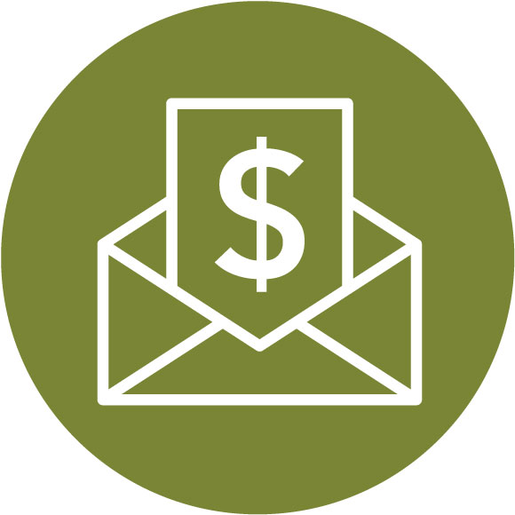 Envelope with dollar sign icon - Finances