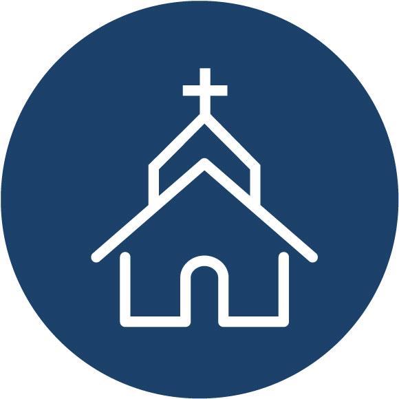 Church icon- Healthy churches, schools, ministries