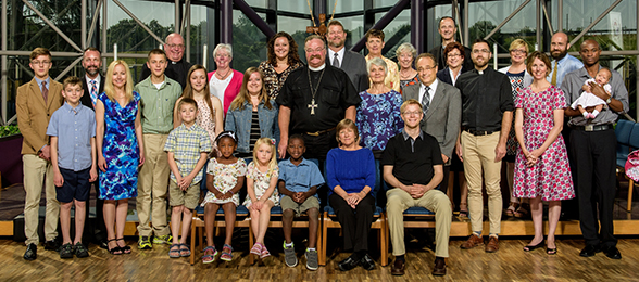 A group portrait of missionaries during the summer 2016 New Missionary Orientation, June 2016.