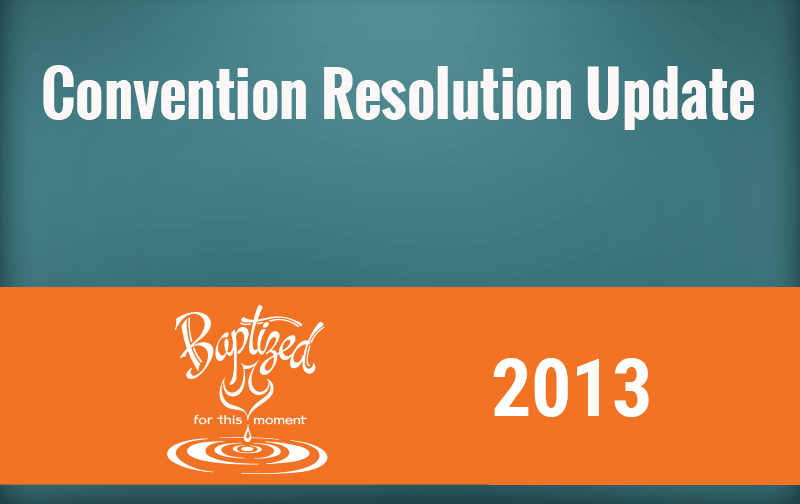 2013 Resolution Update