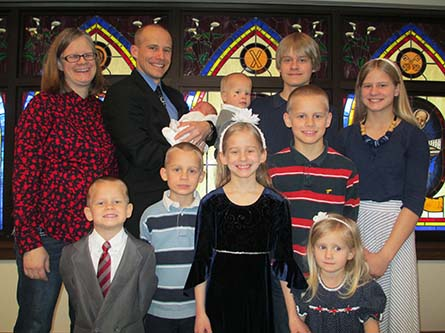 Rev. Jonathan and Anita Clausing and their children