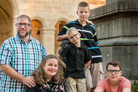 Rev. Joel and Clarion Fritsche and their children