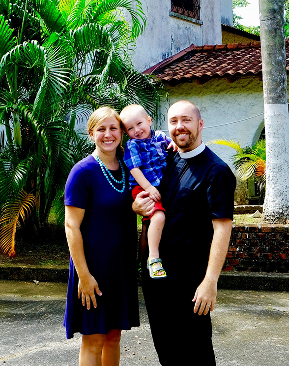 Rev. Brian and Amanda Gauthier and their son