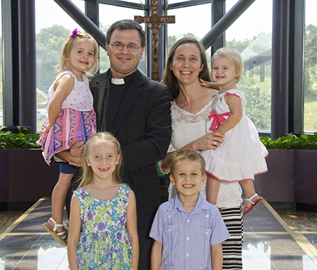 Rev. Ted and Rebecca Krey and their children