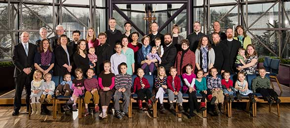 A group portrait of missionaries during the winter 2015 New Missionary Orientation, March 2015.