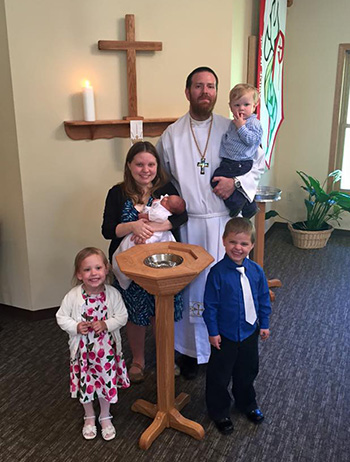 Rev. Ryan and Emily McDermott and their children