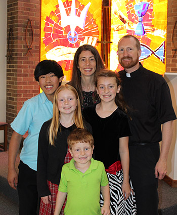 Rev. Mark and Stefanie Rabe and their children