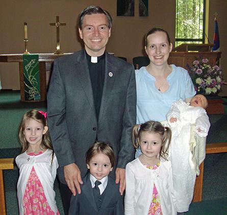 Rev. Arthur and Deaconess Eva Rickman and their children