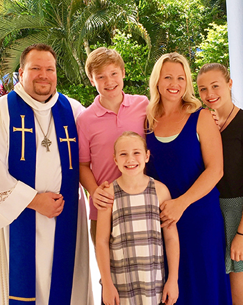 Rev. Matthew and Heather Ruesch and their children