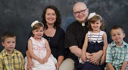 Rev. James and Angela Sharp and their children