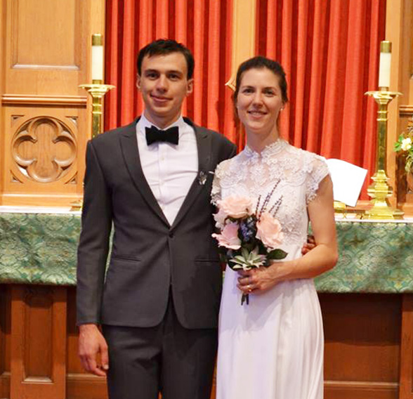 Rebecca Wagner and her husband Peter
