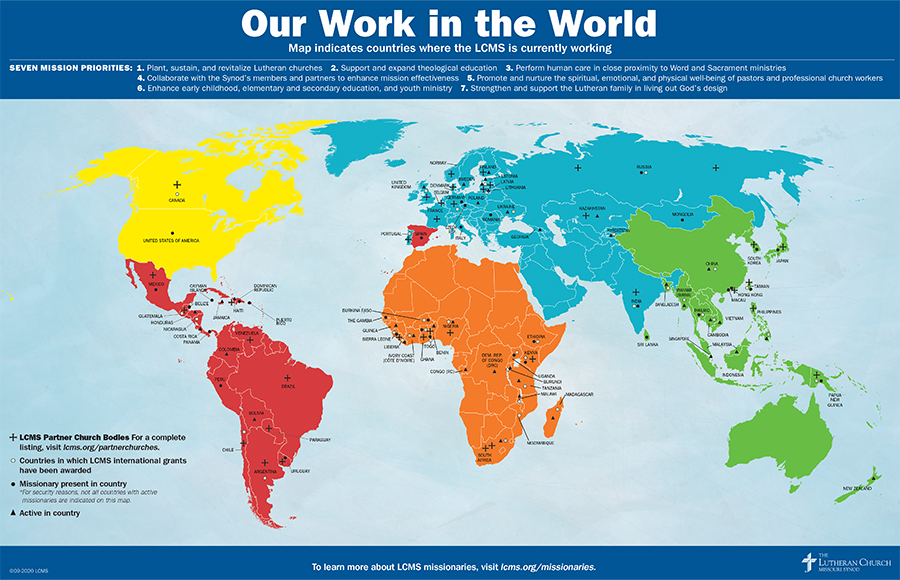 Our Work in the World Map