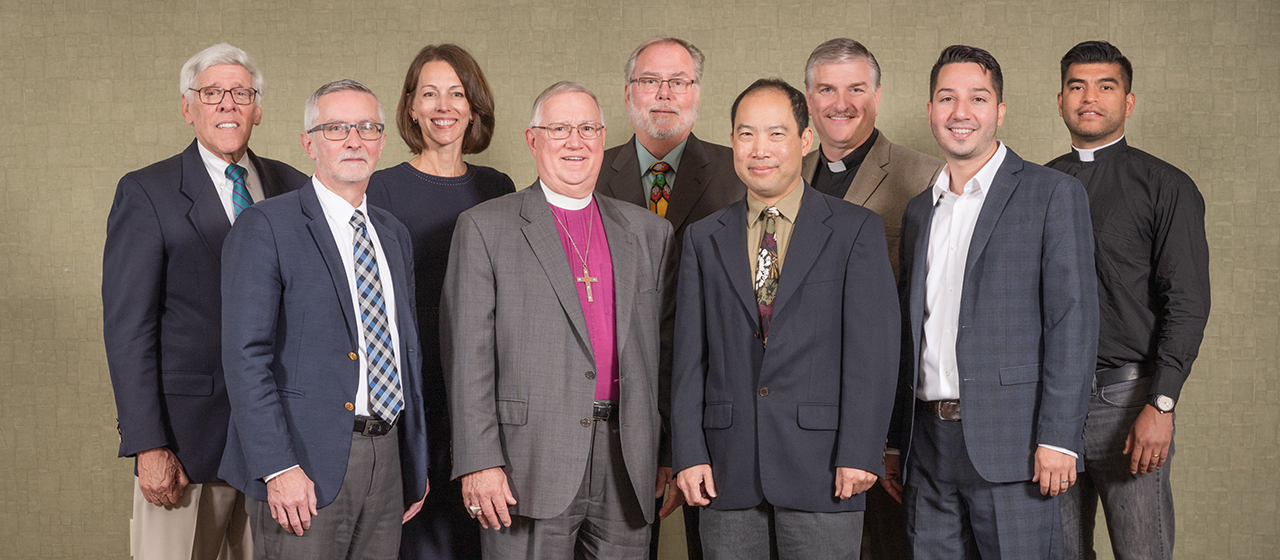 LCMS Board for International Mission members (from left to right): Mr. James Wolf; Mr. Allan Voss, secretary; Mrs. Kristine Bruss; Rev. Dr. David Stechholz; Rev. Bernhard Seter, chairman; Mr. Terence Lung; Rev. Dr. Carl Rockrohr; Rev. Roberto Rojas; and Rev. Magdiel Fajardo. Not pictured: Mr. John Edson, vice-chairman.