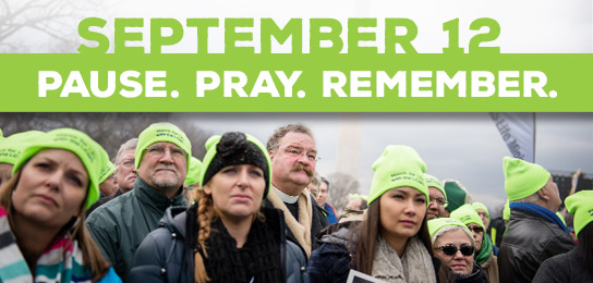 Join Lutherans on September 12 to remember the value of life while praying to end abortion.