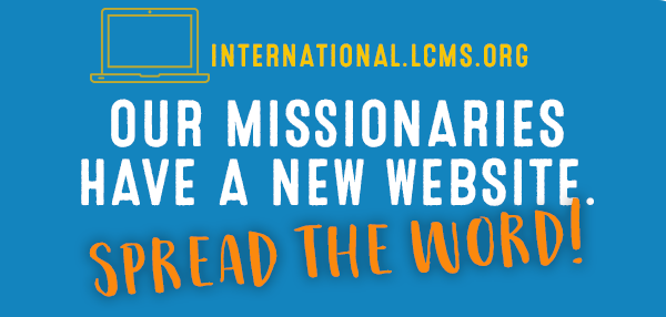 Our missionaries have a new website