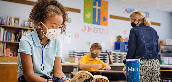 New safety procedures enable Grace Chapel Lutheran School to continue providing a Christ-centered education to children.