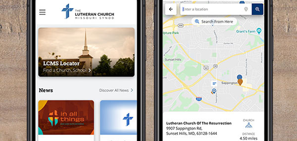 The Lutheran Church-Missouri Synod's updated app for Apple or Android offers a church locator, news, devotions and more.