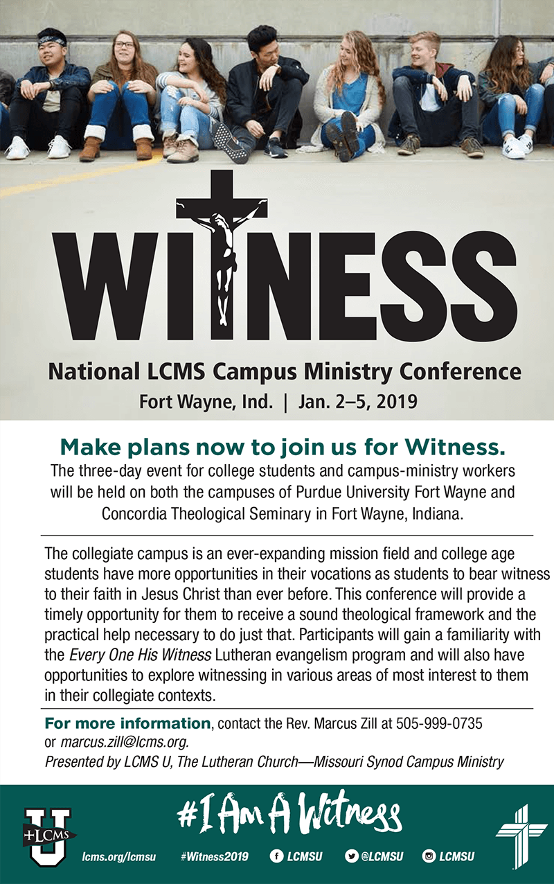 Campus Ministry Bulletin Insert