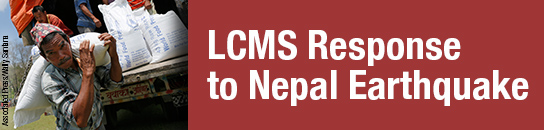 Download bulletin insert and read Reporter story to learn how you can reach out to those suffering in Nepal.