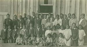 Jan. 9, 1918 - Mobile, Ala., Midway School Students. Rosa Young is pictured in the back row on the left.