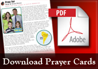 Find prayer cards and the online giving page for LCMS missionaries and personnel.