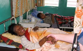 Patients in the Lutheran Hospital in Antsirabe, Madagascar